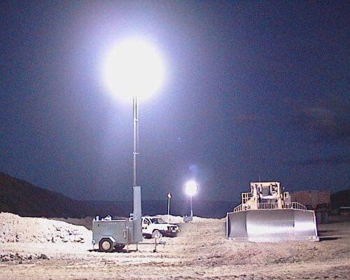 Lunar Light Tower in Mining application
