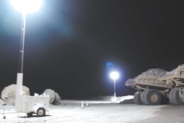 Lunar Light Tower Mining