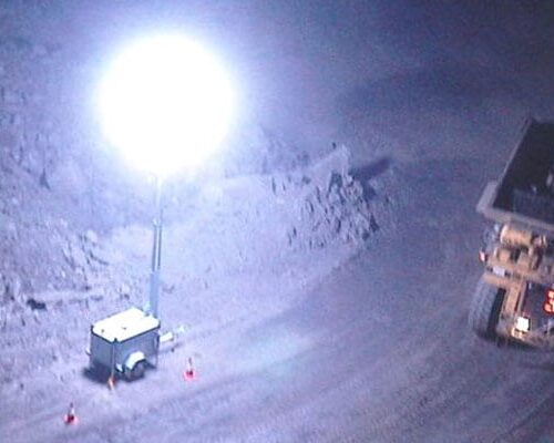Lunar Light Towers for Mines