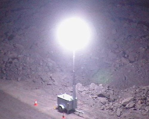 Lunar Light Towers in Mine Operations