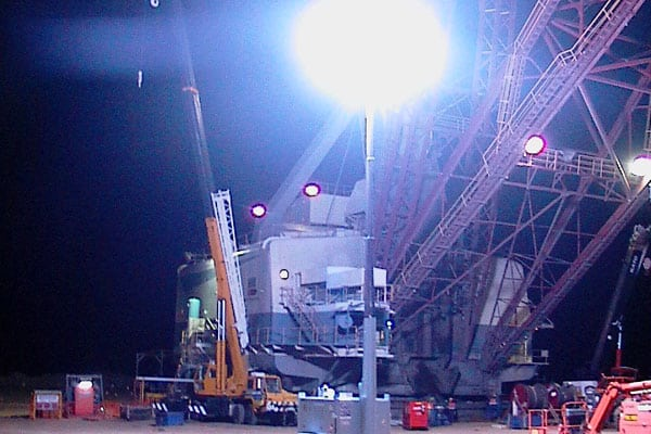 HMI Light Towers for Industrial Lighting