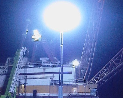 Lunar Lights for the Construction sector