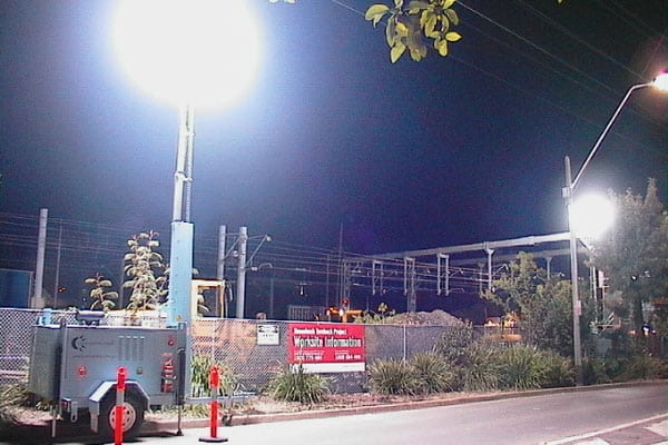 Lunar Light Tower for Roadworks projects