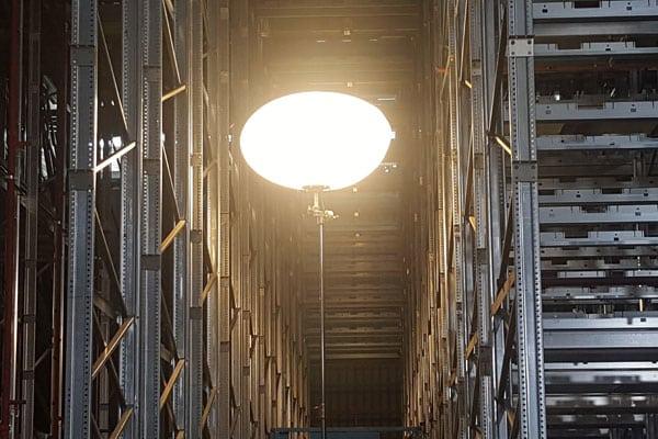 Rigid Polymer Lighting in Warehouses