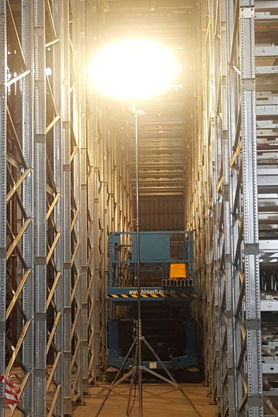 Lunar Lighting for Warehouses